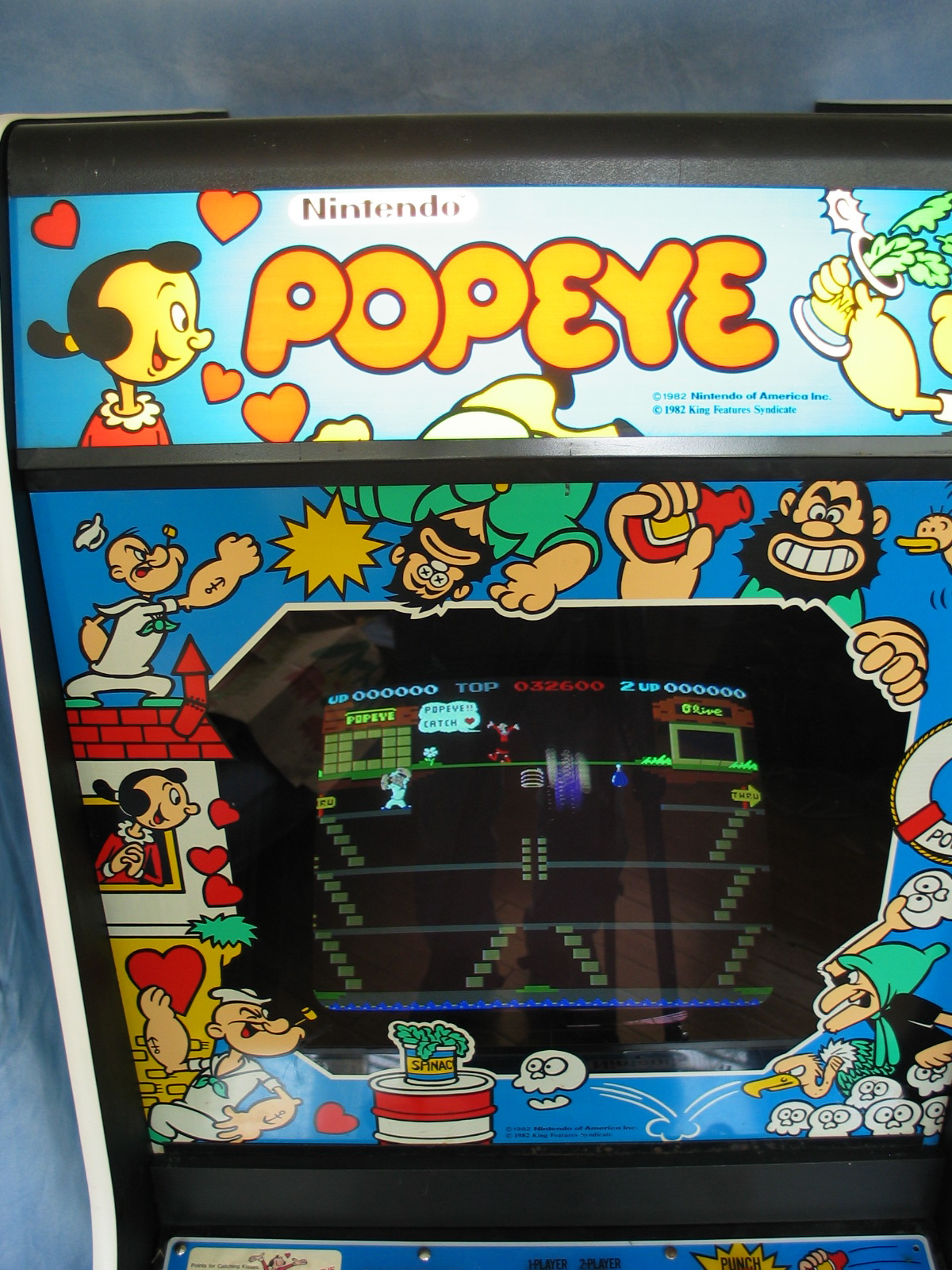 Nintendo Popeye Upright Arcade Machine 400